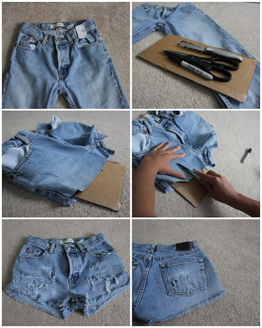 Cool DIY Denim Shorts Projects That Will Keep You Busy