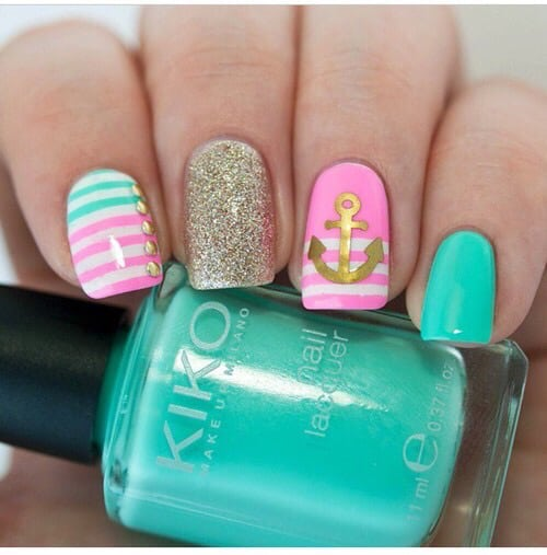 Summer Nautical Nail Designs That You Shouldnt Miss - Summer Nautical Nail Designs That You Shouldn't Miss