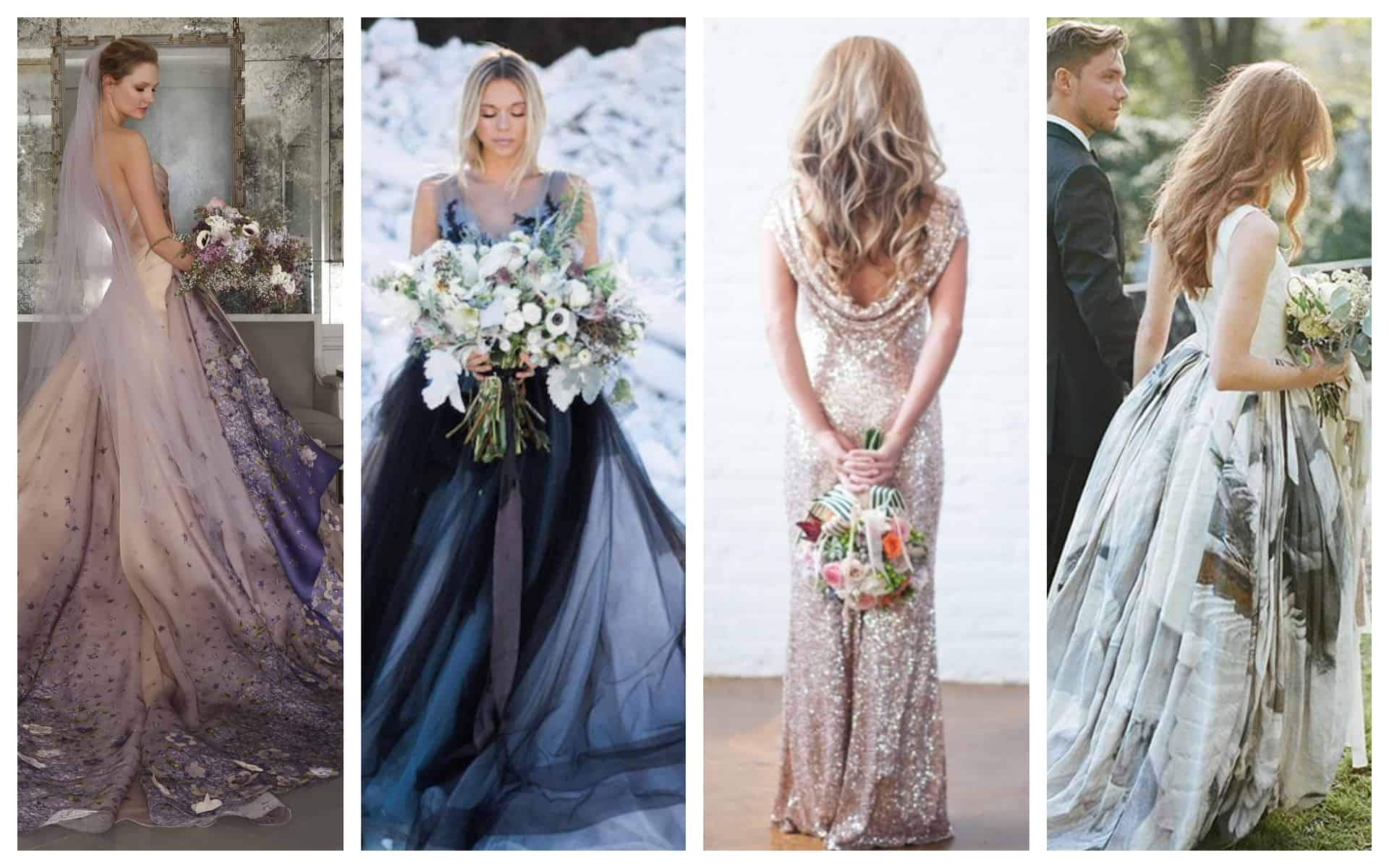 Remarkable And Non-Traditional Wedding Gowns For The