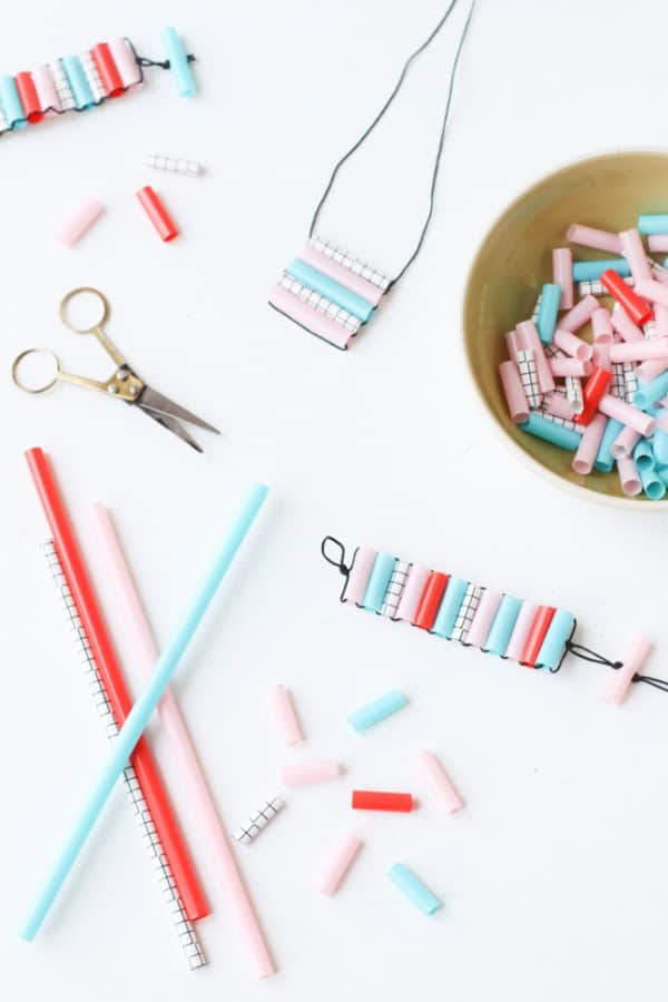 DIY Cheap Straw Jewelry That Is Fun To Make