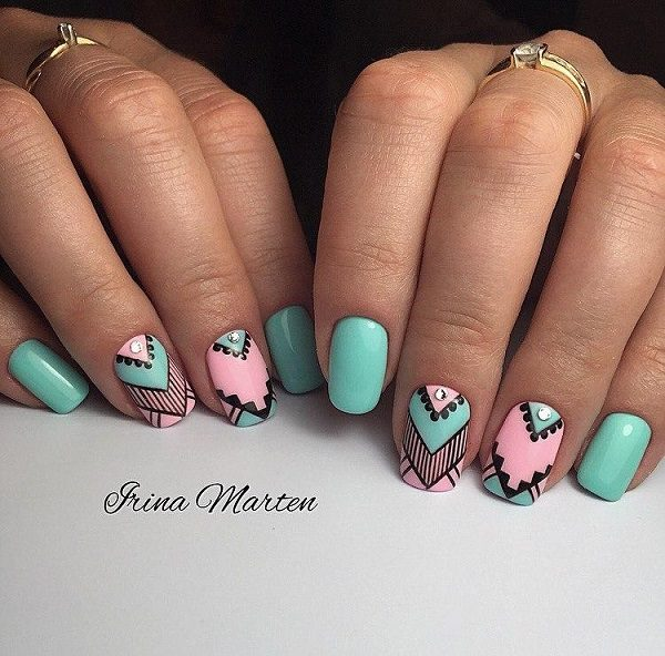 Eye Catching Geometric Manicure Ideas