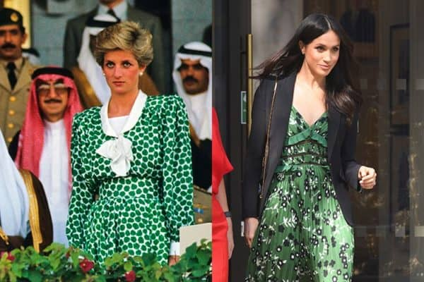 Seven Fashion Moments When Meghan Copied The Style Of The Princess Diana
