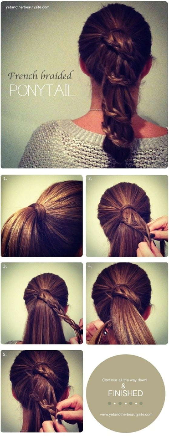 "The Most Stylish ""Less Than Five Minutes"" Pony Tail Hairstyles For Busy Mornings"
