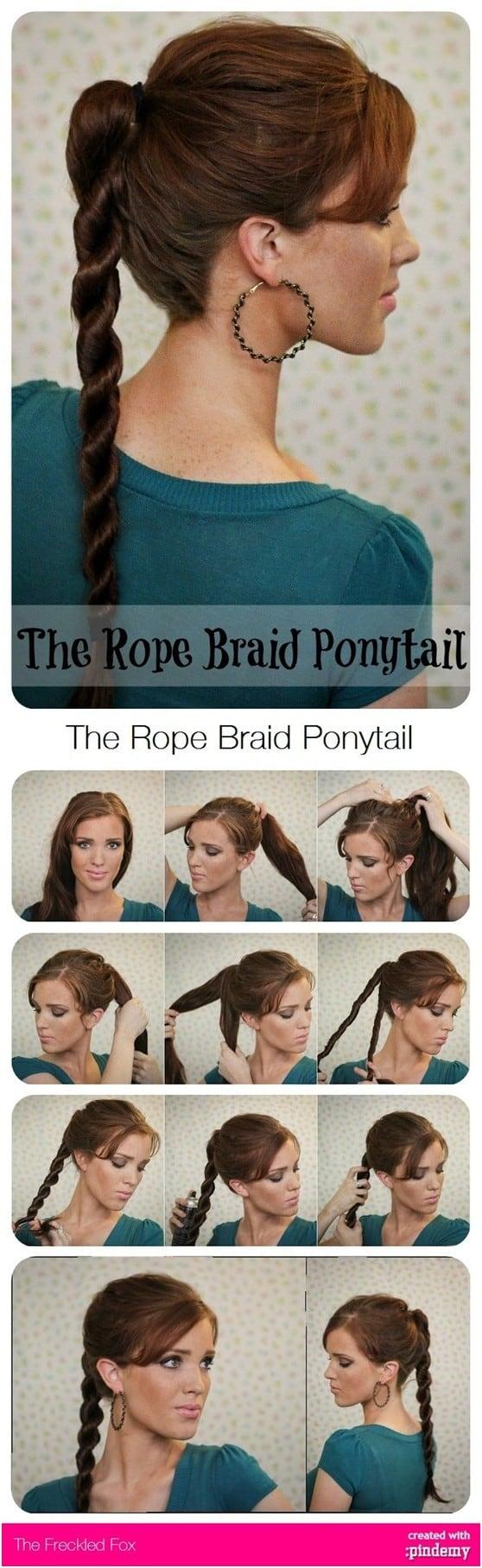 """Die schönsten """"Weniger als fünf Minuten"""" Pony Tail Frisuren für den anstrengenden Vormittag"""