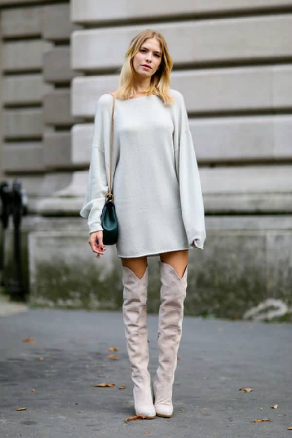 Ten Modern And Sophisticated Ways To Wear Over the knee Boots This Autumn