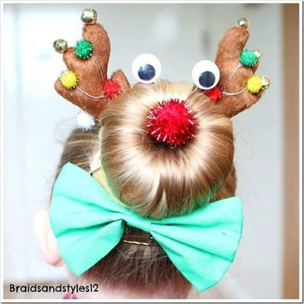Adorable DIY Kids Christmas Hairstyles Your Children Will Fall In Love With