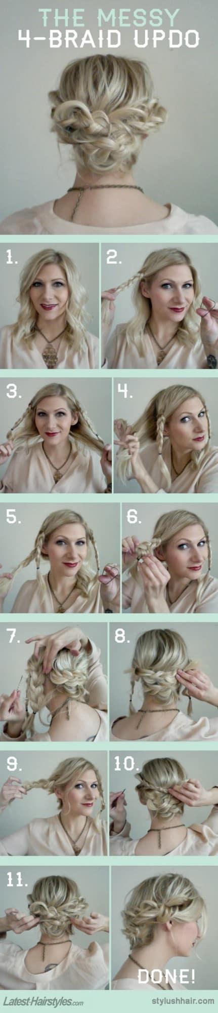 Festliche Schritt für Schritt DIY Frisuren Tutorials, die Sie für dieses Weihnachten versuchen müssen