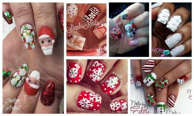 Christmas 3d Nail Art: Impressive Christmas 3D Nails Art Designs You Will Simply
