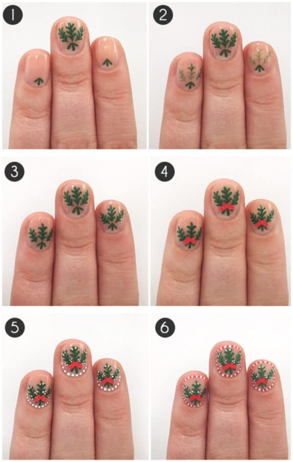 Step By Step DIY Christmas Nails Art Tutorials You Must Try For The Holidays
