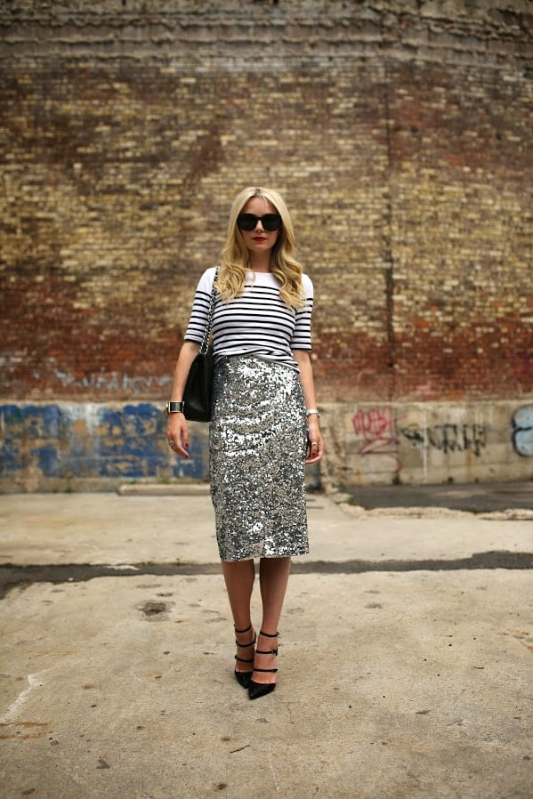 The Trendiest Way To Wear Sequin Dress For The New Years Eve Celebration