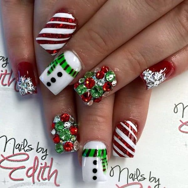Impressive Christmas 3D Nails Art Designs You Will Simply Adore