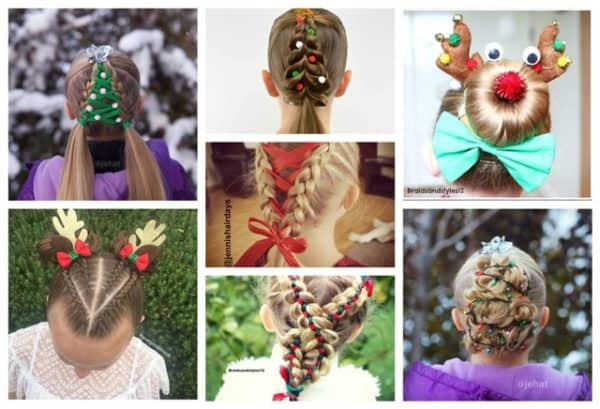 Christmas Hairstyles For Kids.Adorable Diy Kids Christmas Hairstyles Your Children Will