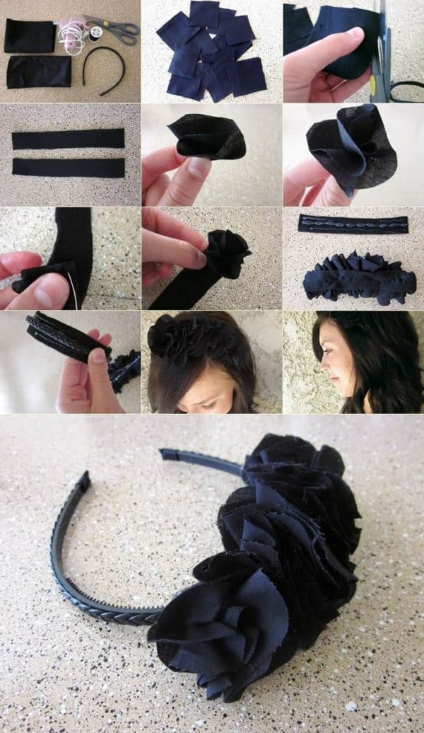 Cute DIY Headband Hair Accessories That Are So Easy To Do