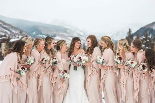 The Best Bridesmaid Dress Choice For A Winter Wedding