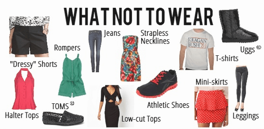 Guideline on What NOT to Wear to Work