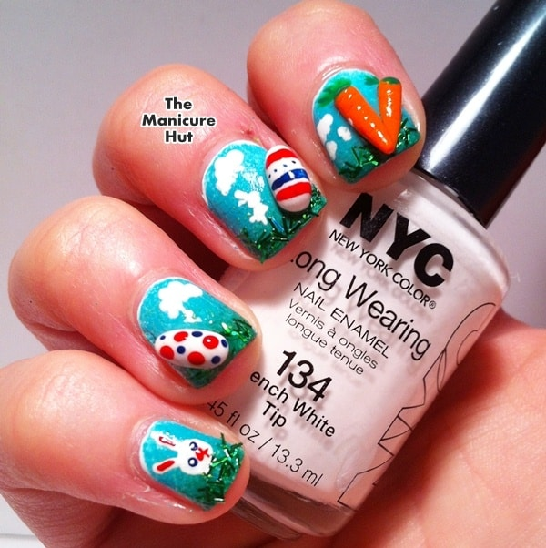 Creative 3D Easter Inspired Nails Art Designs To Try For The Following Holiday