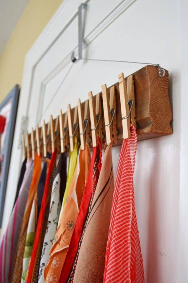 DIY Scarves Storage Solutions To Organize All Your Scarves