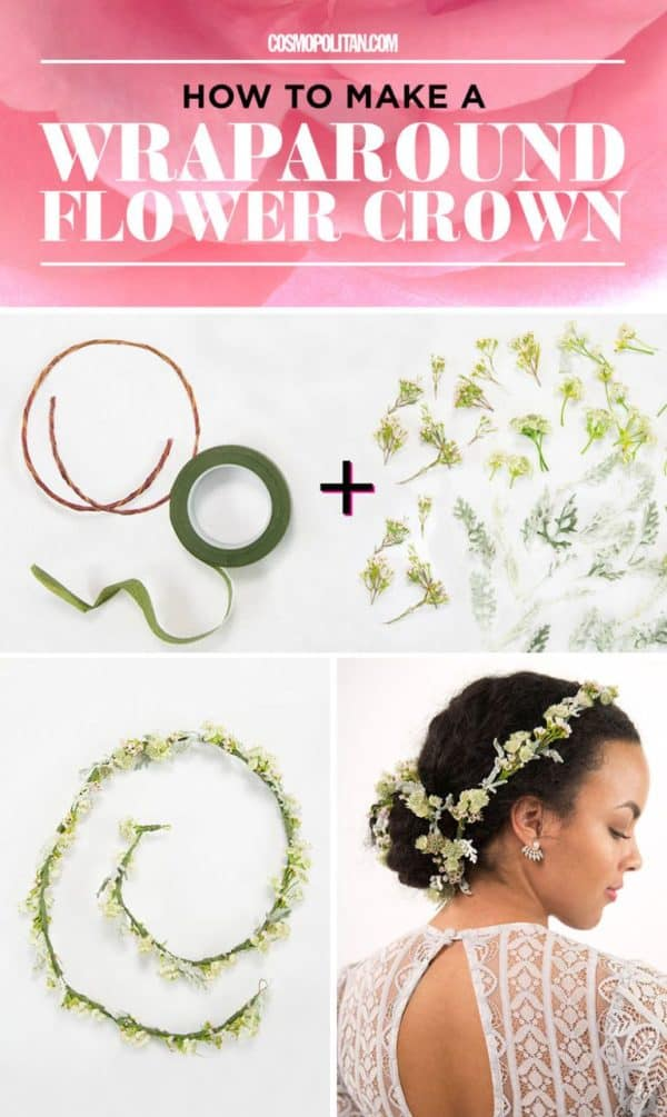 Spring/Summer Biggest Hair Accessory Trend: DIY Flowers Crown