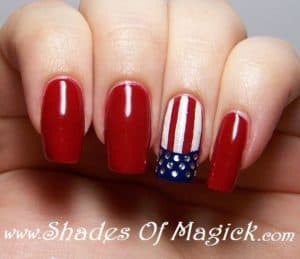 Patriotic Nails Art Designs In The Sign Of Independent Day To Try This 4 Of July