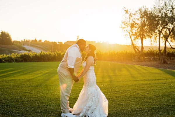 How To Get Beautiful Sunset Wedding Portraits