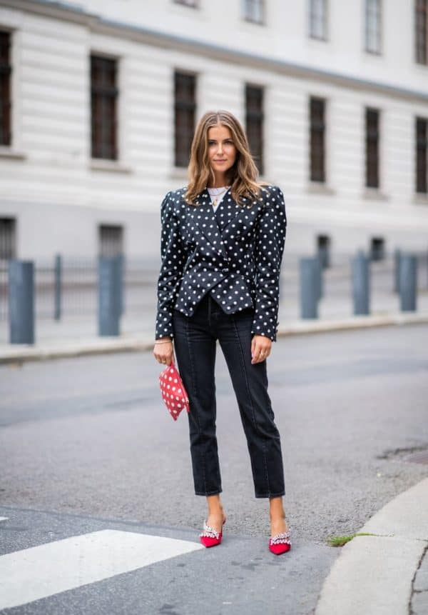 Pretty Fall Polka Dots Outfits That Will Make You Look Fancy This Season
