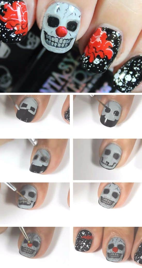Scary Halloween Manicure Tutorials That Will Catch Your Eye
