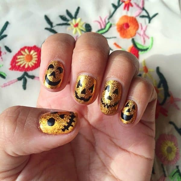 Pumpkin Nails That Are Just Great For Halloween And This Fall