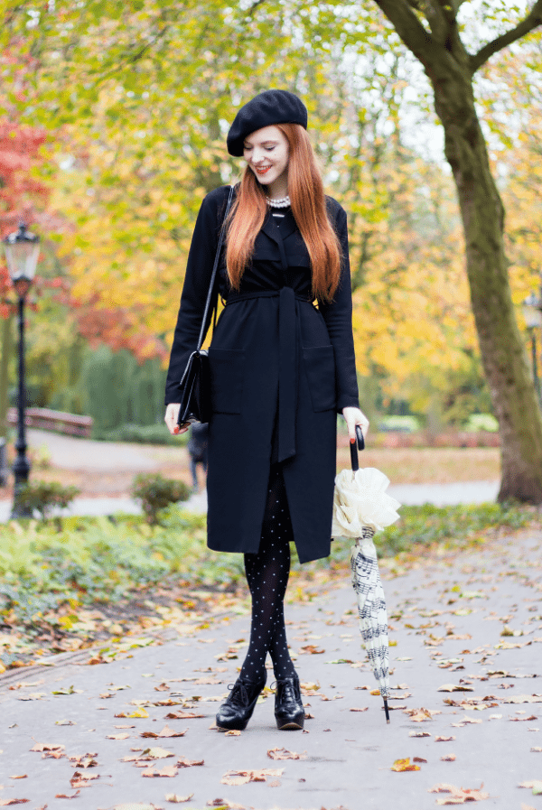 Pretty Fall Outfits With Patterned Tights That Will Make You Look Fancy