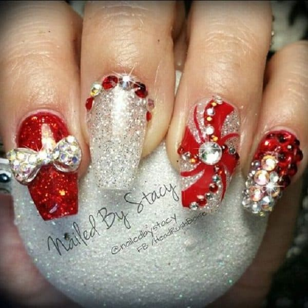 Festive 3D Christmas Nails That Will Impress You