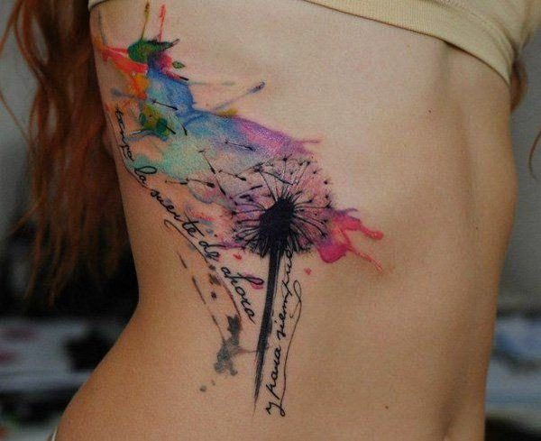 Dreamy Watercolor Tattoos That Will Add Colors To Your Life