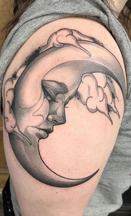 Splendid Moon Tattoos That Both Men And Women Would Like To Get