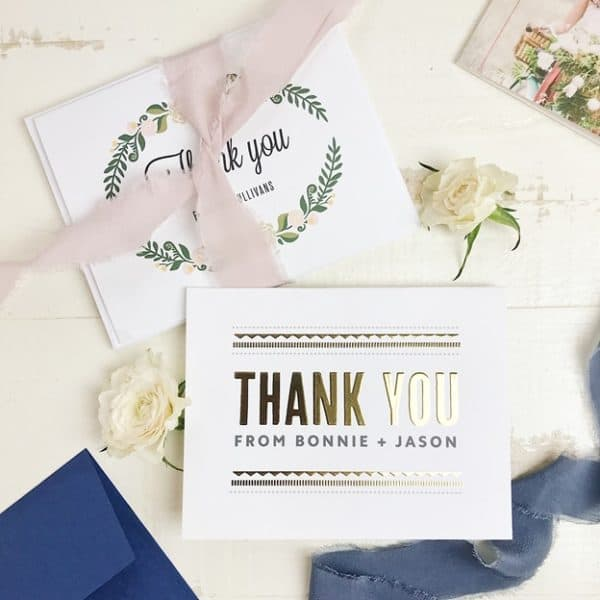 7 DIY Ideas To Take Your Wedding Thank You Cards To The Next Level