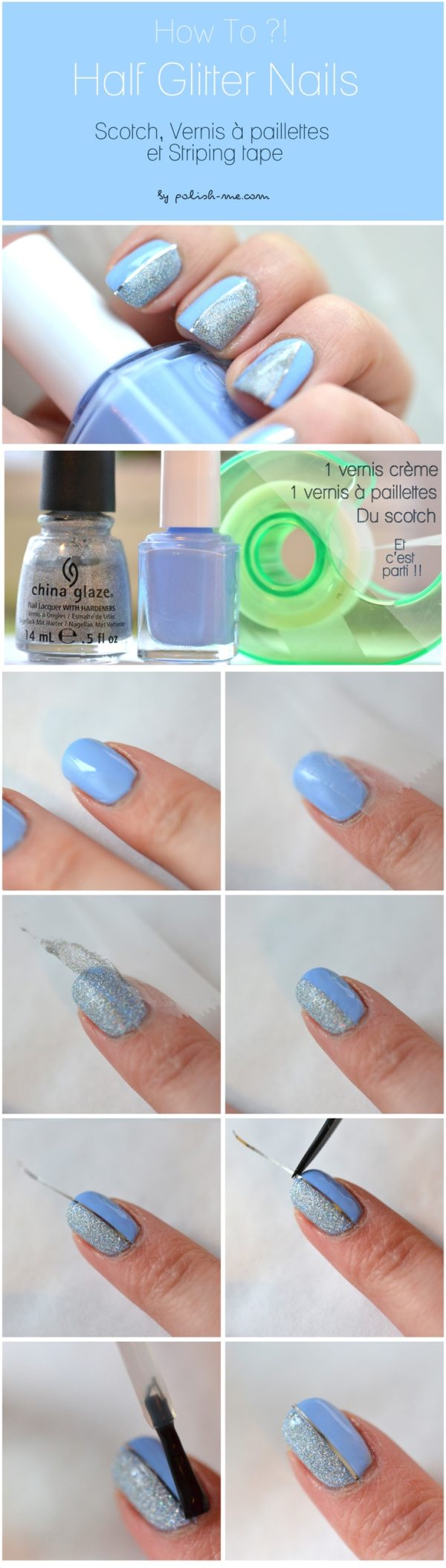 Interesting Tape Nails Tutorials That Are Easy To Recreate
