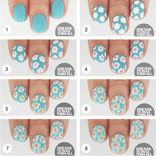 Floral Nails Tutorials That Will Make You Feel The Spring At Your Home During Quarantine Time