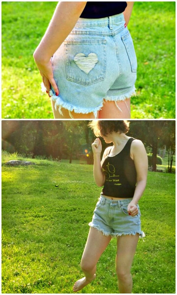 Interesting DIY Denim Shorts That Are Easy To Make