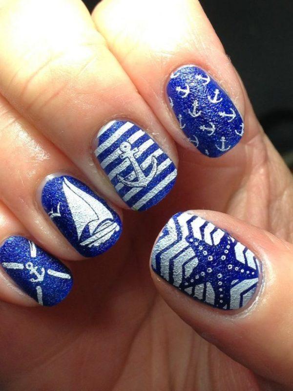 Amazing Nautical Nails Designs That Scream Summer