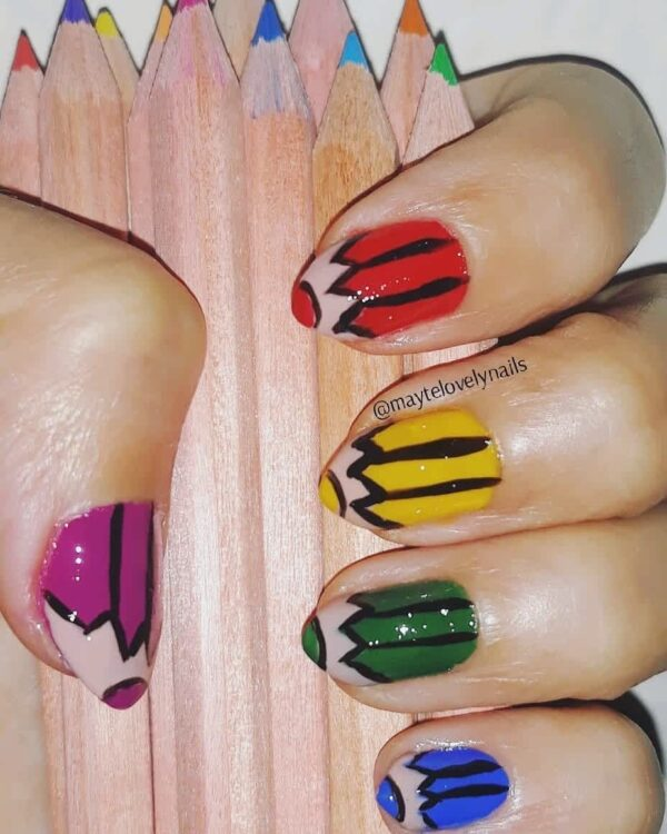 Cute Back To School Manicure Ideas That You Would Like To Recreate