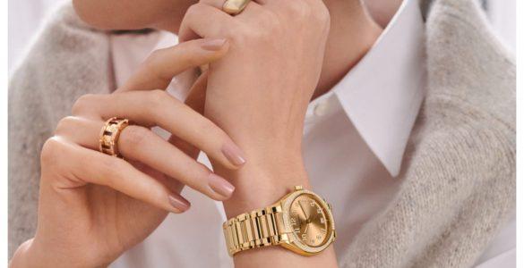 wearing a watch